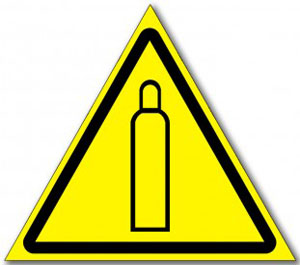 "Табличка ""Осторожно газовый баллон"""