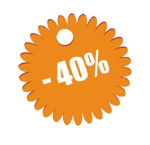 Наклейка ярлычок минус 40%