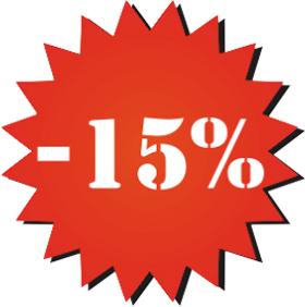 Наклейка минус 15%