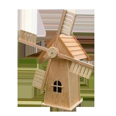Мельница деревянная садовая арт. МТ06