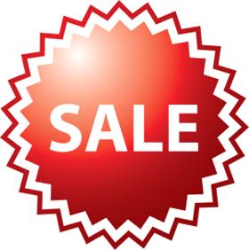 """Наклейка """"Sale"""" для магазина"""