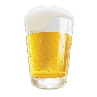 Наклейка бакал пива