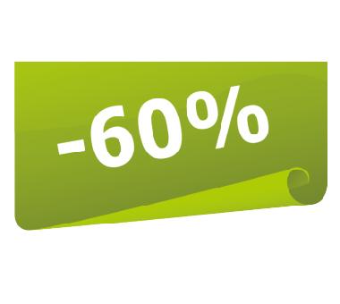 Наклейка минус 60 % (скидка)