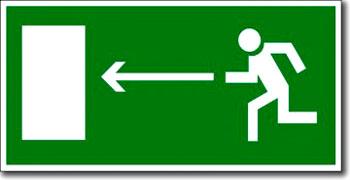 """""""Направление к эвакуационному выходу налево"""""""