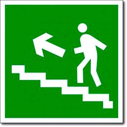 """""""Направление к эвакуационному выходу по лестнице вверх"""""""