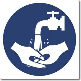"Табличка ""мыть руки"""