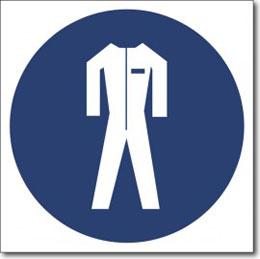 """Знак """" работать в защитной одежде"""""""