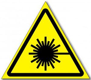 """Табличка """"Опасность лазерное излучение"""""""