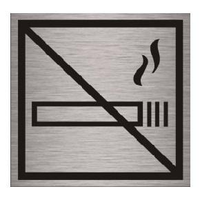 Табличка алюминиевая не курить