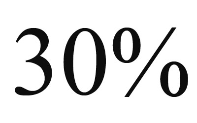 Стикер 30%