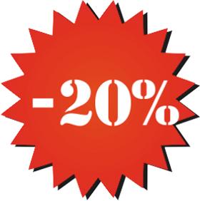 Наклейка минус 20%