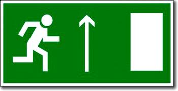 """""""Направление к эвакуационному выходу прямо (правосторонний)"""""""