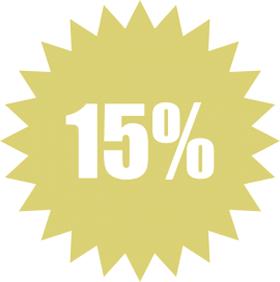 Наклейка 15 %