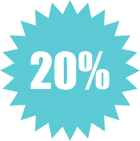 Наклейка 20%