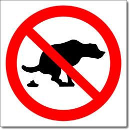 """Наклейка """"Собакам гадить запрещено"""""""
