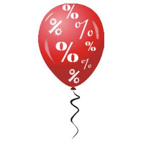 Наклейка шарик процент