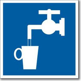 """Табличка """"Питьевая вода"""""""
