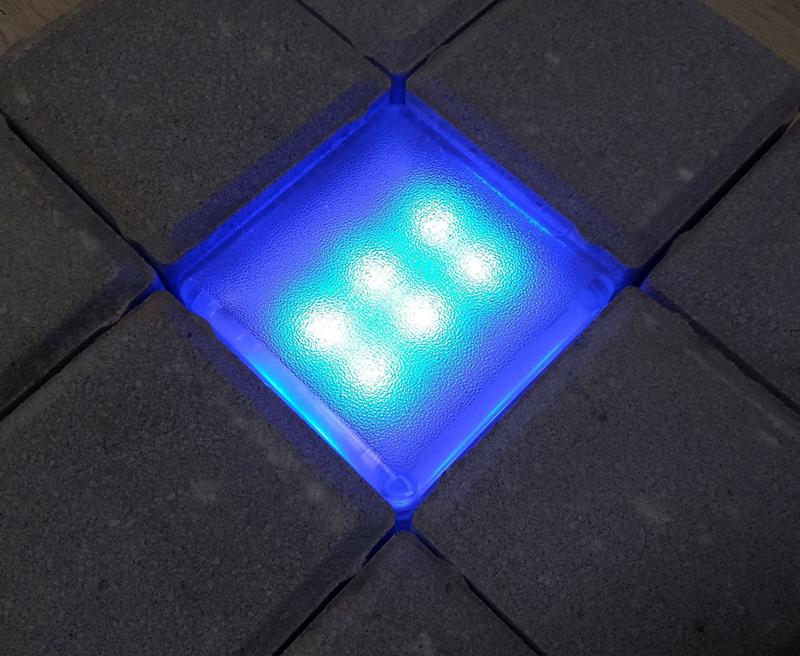 Светящаяся плитка для дорожек 100х100х40 RGB