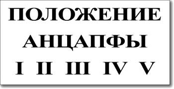 """Табличка """"Положение анцапфы"""""""