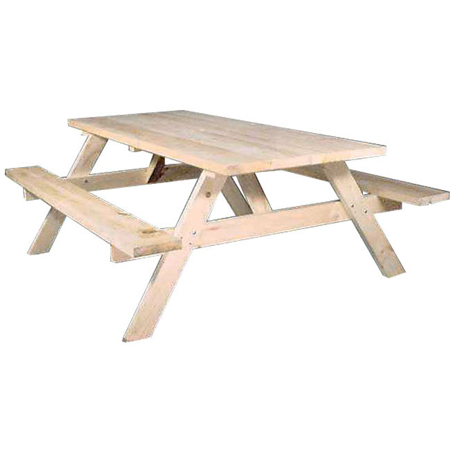 Стол с двумя лавками