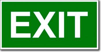 "Табличка ""Exit"""