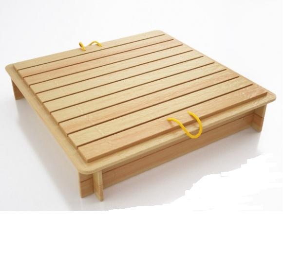 Песочница с деревянным укрытием арт. ПС06