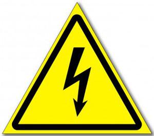 """Табличка """"Опасность поражения электрическим током"""""""