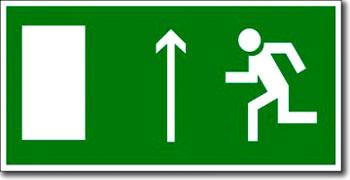 """""""Направление к эвакуационному выходу прямо (левосторонний)"""""""